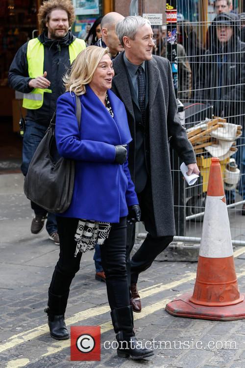 nicholas lyndhurst amanda redman filming for bbc series new 3481914