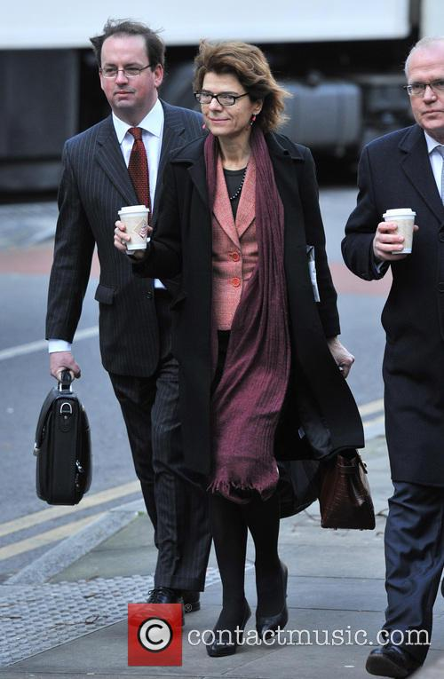 Vicky Pryce arrives at Southwark Crown Court