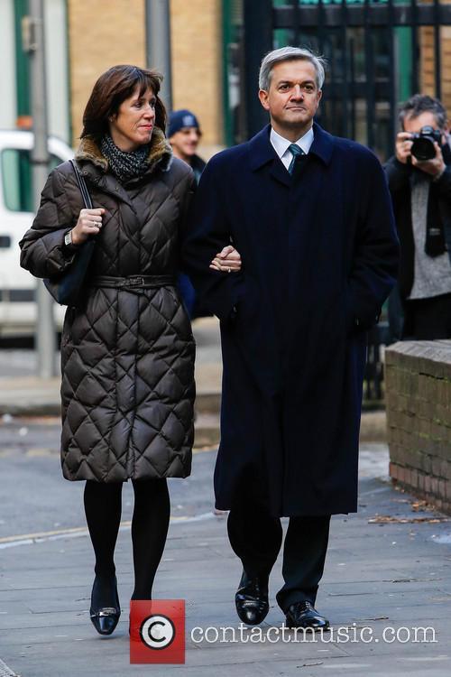 Chris Huhne arrives at Southwark Crown Court