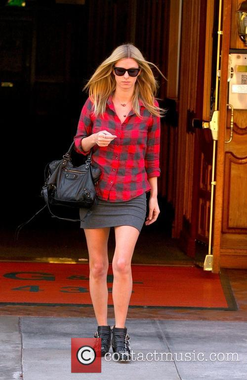 Nicky Hilton is seen in a hurry
