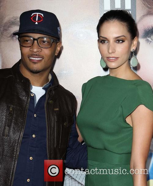 T.I. and Genesis Rodriguez 1