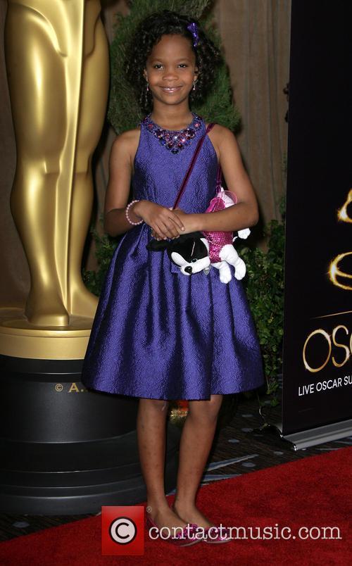 Quvenzhane Wallis at the Beverly Hilton Hotel Academy Awards