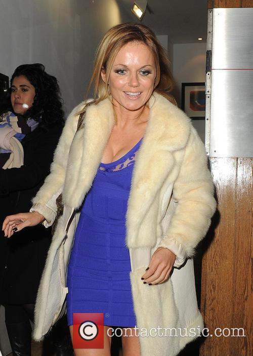 Geri Halliwell leaving a office building in Soho