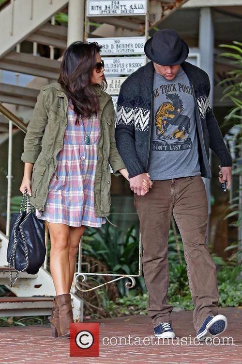 Jenna Dewan-Tatum and her husband Channing Tatum spotted...