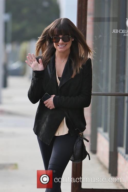 lea michele lea michele exits the warren tricomi 3487562