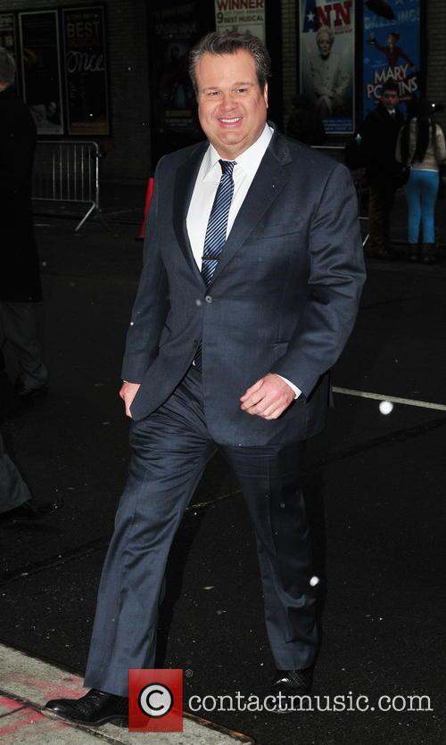 Eric Stonestreet arrives at the Ed Sullivan Theater