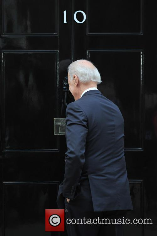 US Vice President Joe Biden arrives at 10 Downing Street