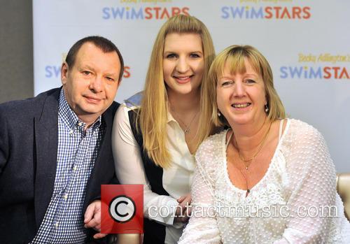 Rebecca Adlington, Parents, Steve Adlington and Kay Adlington 1