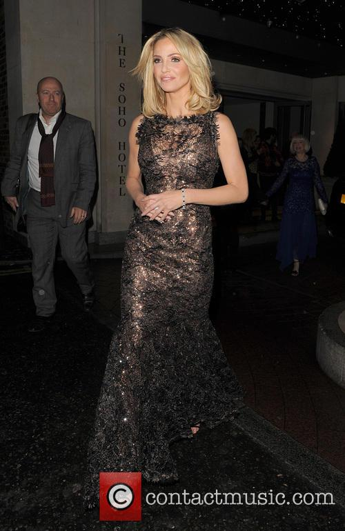 Sarah Harding leaving her hotel