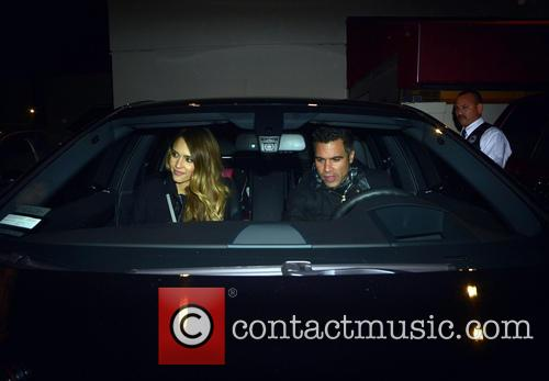 Jessica Alba and Cash Warren leaving Matsushita