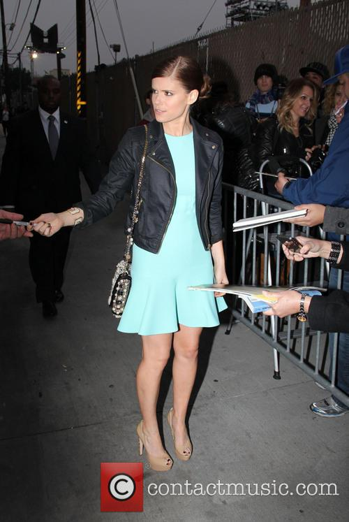 Kate Mara outside the Jimmel Kimmel studios
