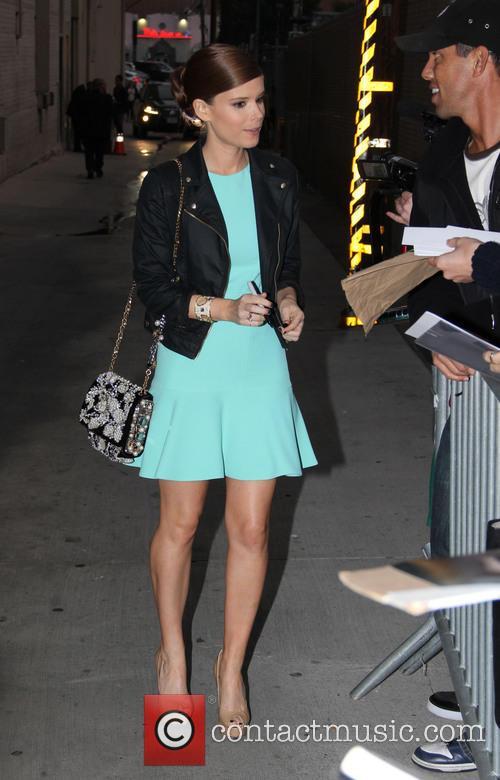 Kate Mara outside the Jimmel Kimmel studios