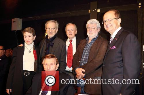 Sumner Redstone, George Lucus, Steven Spielberg, Elizabeth Daley and Max Nikias 2