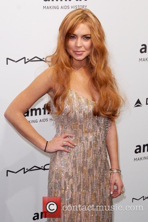 Lindsay Lohan at the amfAR gala