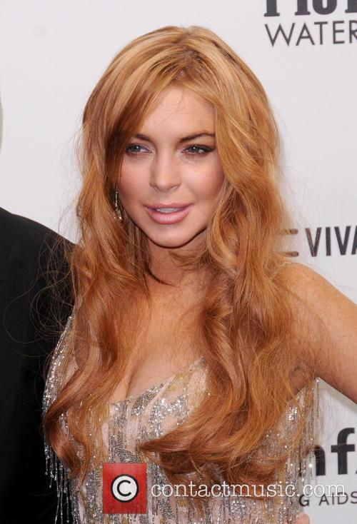 Lindsay Lohan at the Amfar Gala