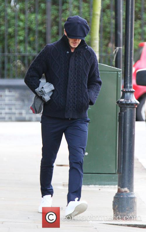 David Beckham out and about in Notting Hill