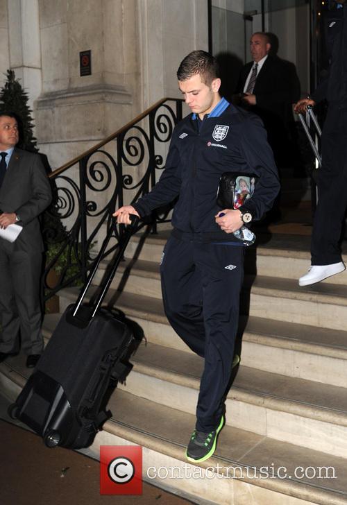jack wilshere england football team seen leaving their 3485028