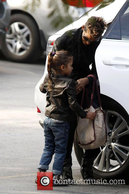 Halle Berry takes her daughter Nahla Aubry to...