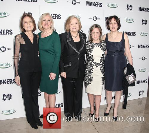 Gloria Steinman, Paula Kergerm Sharon Percy Rockefeller, Dyllan Mcgee and Betsy West 2