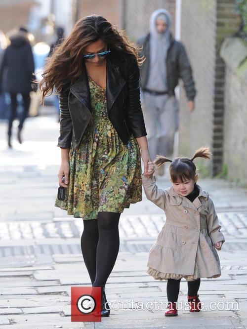 Myleene Klass taking her daughters to school