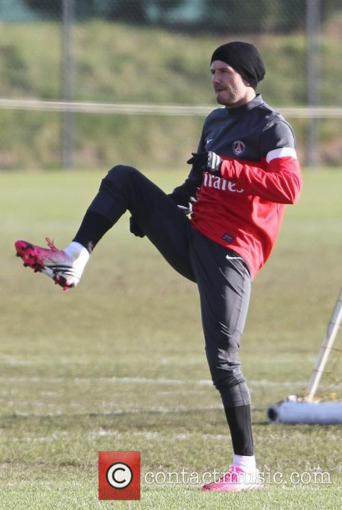 David Beckham football training