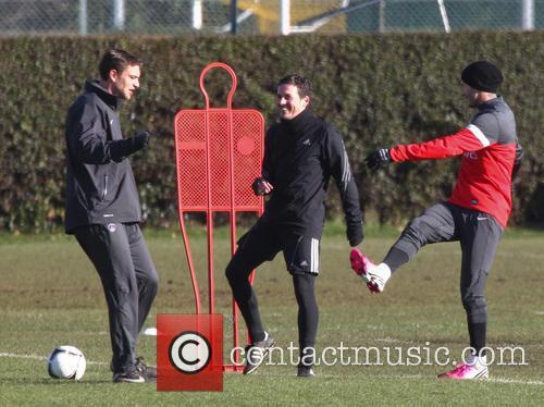 David Beckham training
