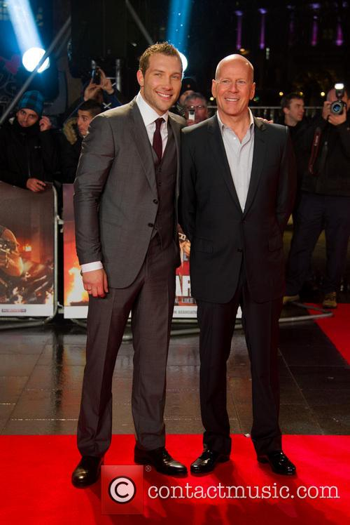 Jai Coutney and Bruce Willis 3