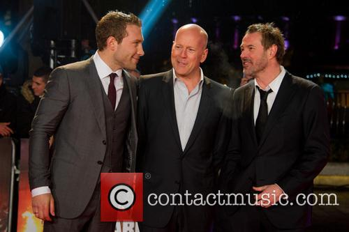 Jai Coutney, Bruce Willis and Sebastian Koch 2