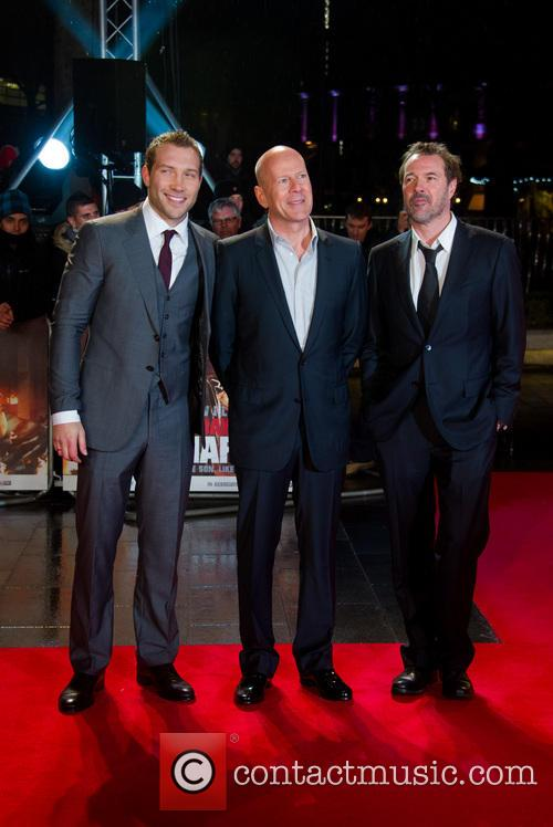 Jai Coutney, Bruce Willis and Sebastian Koch 4