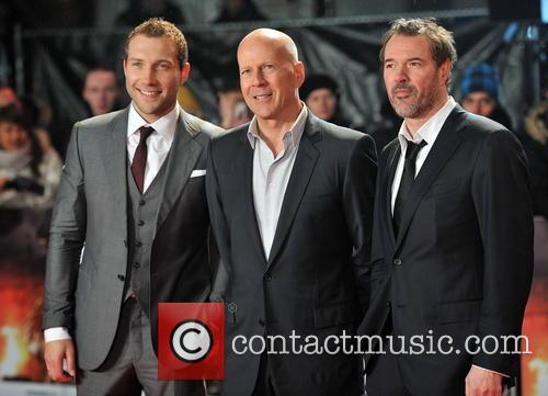 Jai Courtney, Bruce Willis and Sebastian Koch 2