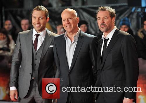 Jai Courtney, Bruce Willis and Sebastian Koch 1