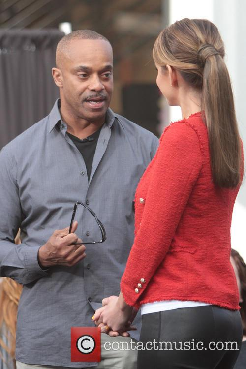 Rocky Carroll and Maria Menounos 2