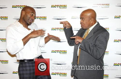 Brandon Victor Dixon and Berry Gordy 1