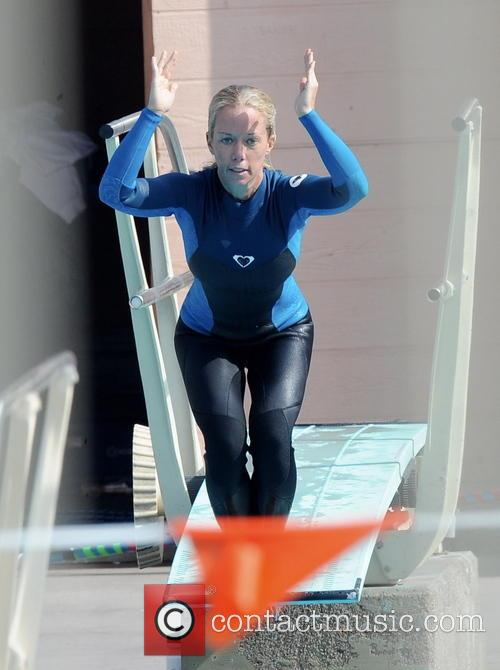 kendra wilkinson celebrities practice their dives for the 3487478