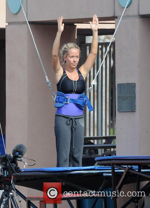 kendra wilkinson celebrities practice their dives for the 3487483