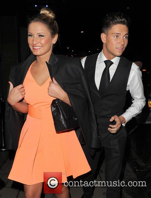 Joey Essex and Samantha Faiers leaving The May...