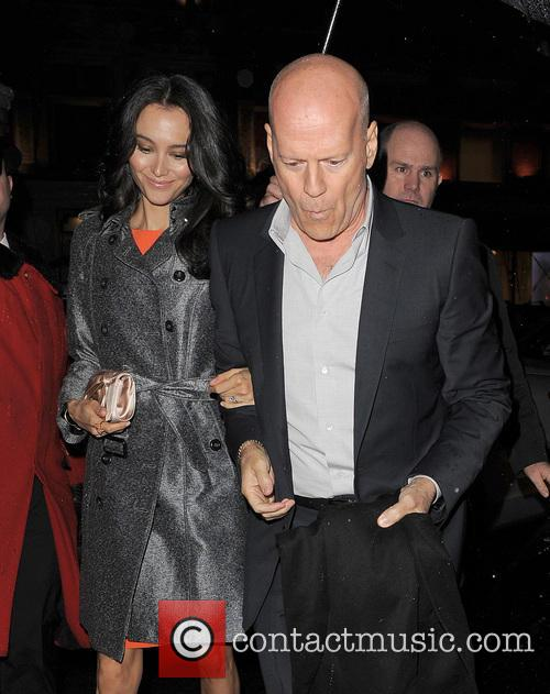 Bruce Willis At His Hotel