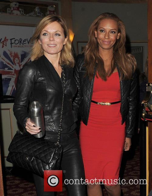 melanie brown geri halliwell spice girls at 'viva forever' 3488935