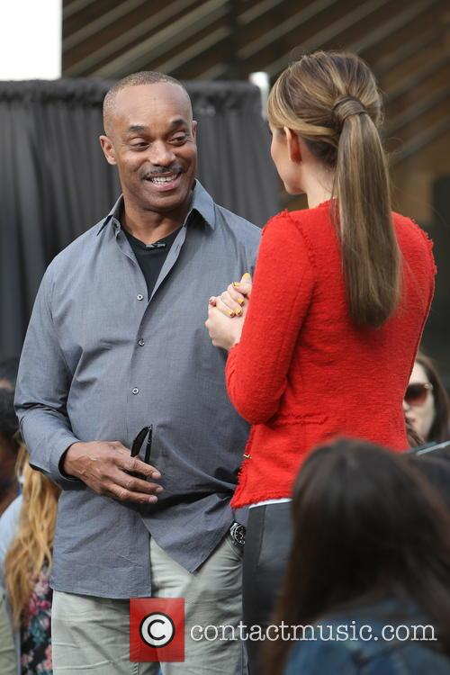 Rocky Carroll and Maria Menounos 9