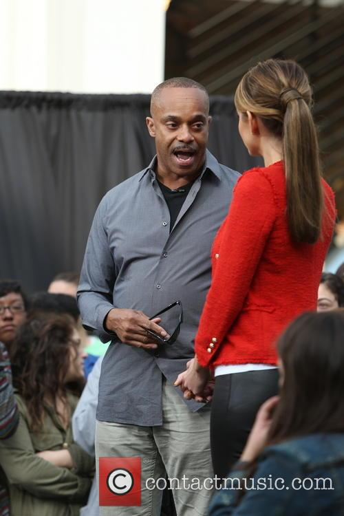 Rocky Carroll and Maria Menounos 12