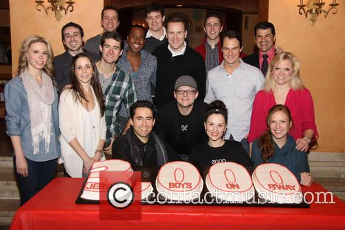 3,000th performance of 'Jersey Boys' on Broadway at...