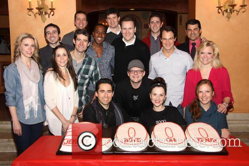 cast 3 000th performance of 'jersey boys' on 3490195