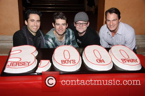 John Lloyd Young, Drew Gehling, Jeremy Kushnier and Matt Bogart 2