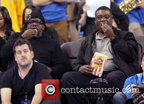 Celebrities watch as the UCLA Bruins defeated the...