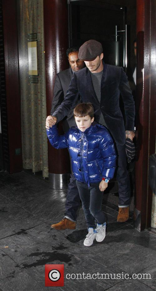 David Beckham and Cruz Beckham 12