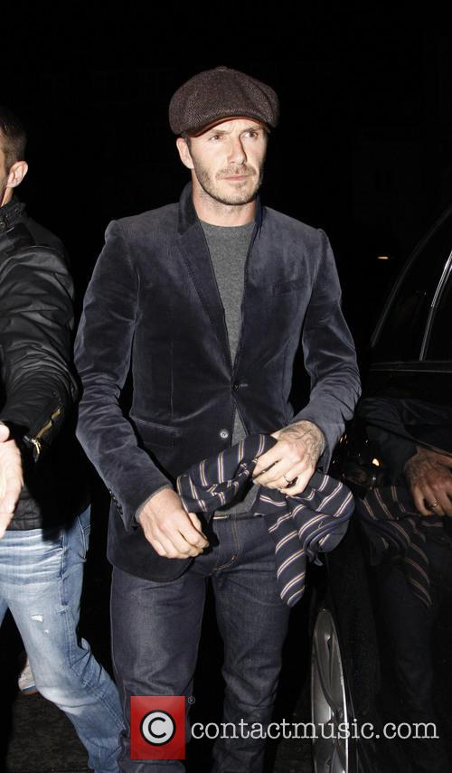 The Beckham family and Ramsay family depart Tamarind Restaurant