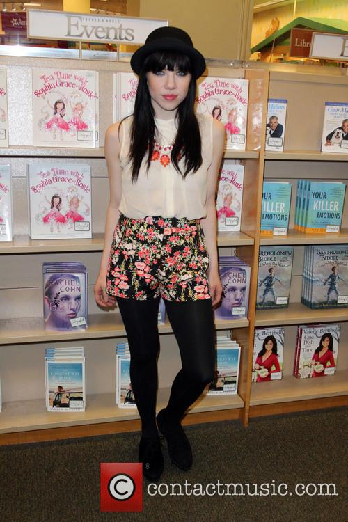 Carly Rae Jepsen signs copies of her March...