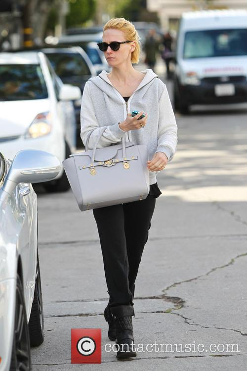 January Jones out and about