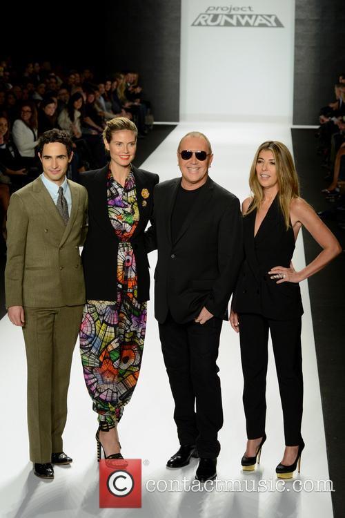 Zac Posen, Heidi Klum, Michael Kors and Nina Garcia 1