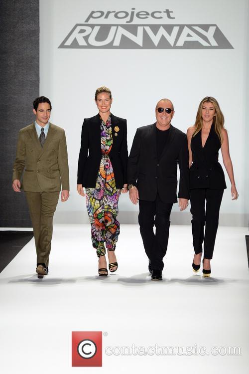 Zac Posen, Heidi Klum, Michael Kors and Nina Garcia 5